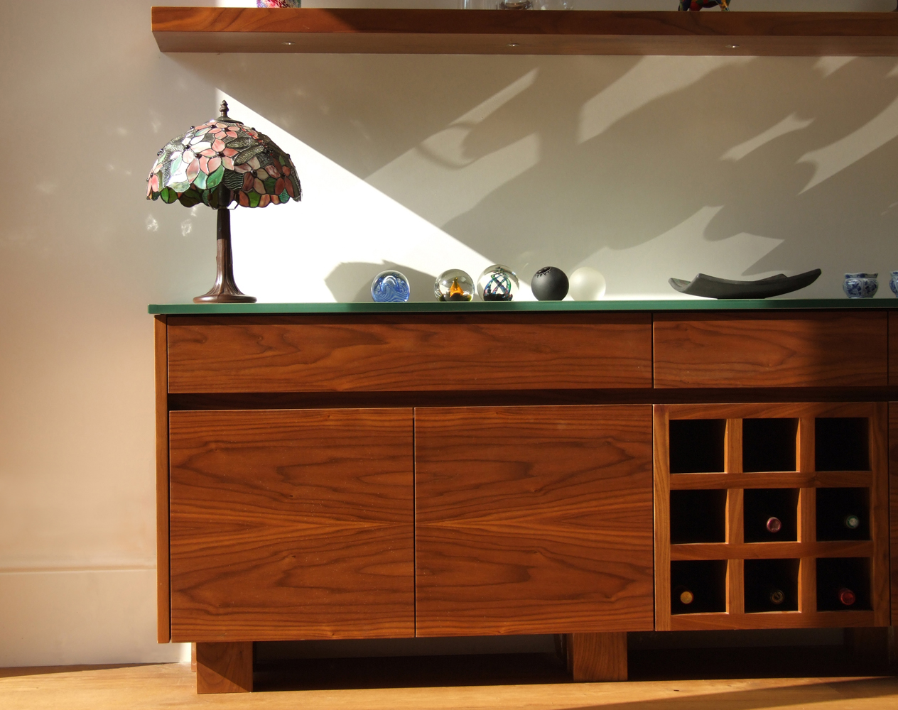 our bespoke handleless minimalist dresser floating shelves and av cabinets to match are packed with technology u0026 intelligent lighting