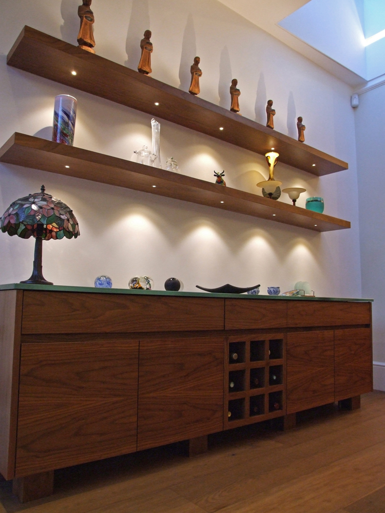 Walnut Floating Shelves With LED Lights Magnificent Light Oak Floating Shelves